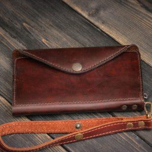 Кожаное портмоне – клатч